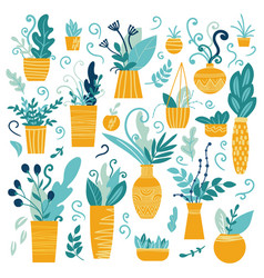 collection of house plant vector image