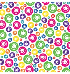 colorful swirl pattern background vector image