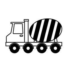 Concrete mixer truck vehicle vector