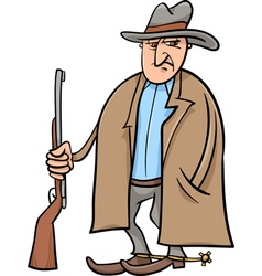 cowboy cartoon vector image