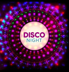 disco night banner2 vector image