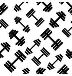Dumbbell pattern seamless flat style for web vector