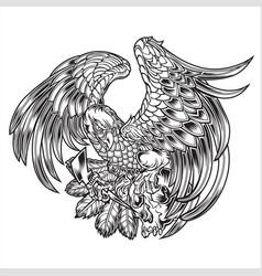 Eagle bird wing annimal usa america skull vector