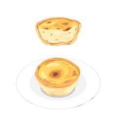 Egg tart vector