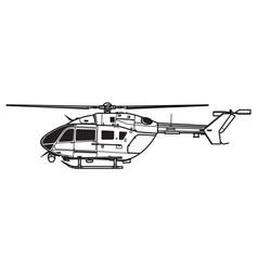 Eurocopter uh-72 lakota vector