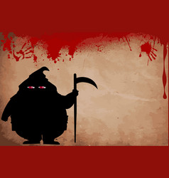 executor silhouette with predatory screwed up red vector image