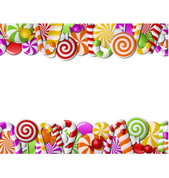 Frame made of colorful candies vector