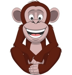 Funny little monkey vector image