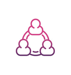 group network social media icon line vector image