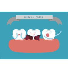 Hello Halloween of dental vector