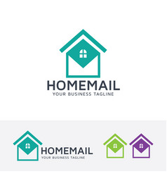 Home mail logo design vector