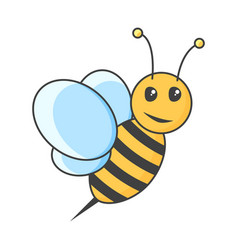 Icon bee on white background vector