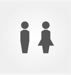 icon male and woman in flat style vector image
