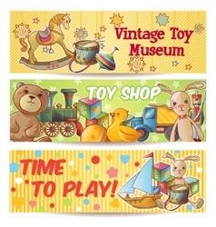 kids toys banner set vector image
