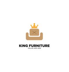 King furniture logo template vector