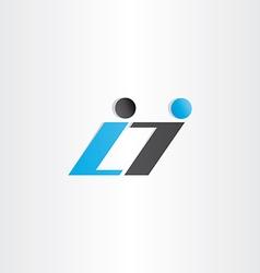 Letter l and i symbol design vector