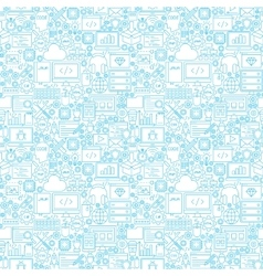 Line Programming White Seamless Pattern vector