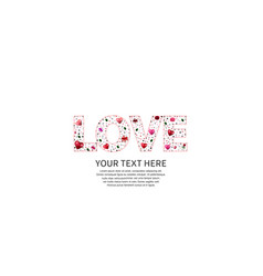 Love text pink line color on white background vector