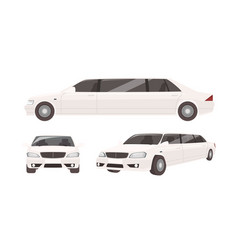 luxurious limousine or limo isolated on white vector image