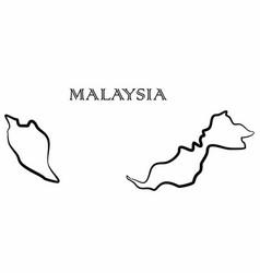 Malaysia map vector