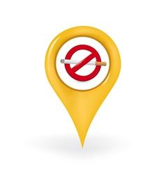 No Smoking Location vector image