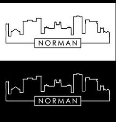 norman skyline linear style editable file vector image