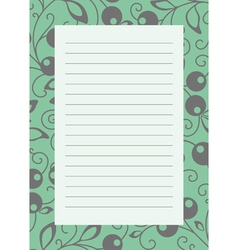 note page green vector image
