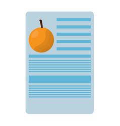orange nutrition facts label template vector image