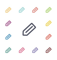 pencil flat icons set vector image
