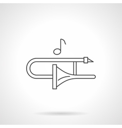 Play on trombone flat line icon vector image