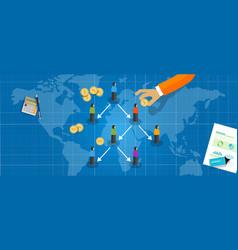 ponzi scheme fraud type multi level marketing vector image
