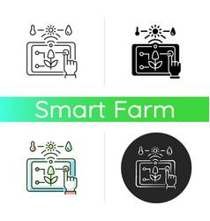precision agriculture icon vector image