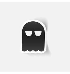 Realistic design element ghost vector