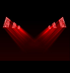 Red stage lights background vector