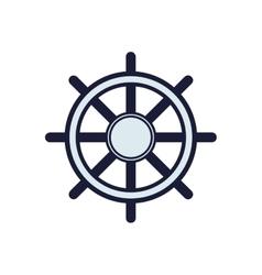 rudder sea lifestyle nautical marine icon vector image