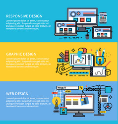 Set abstract concepts design process vector