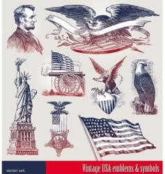 set american symbols vector image