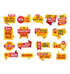 Set of sale and best choice badges and labels vector