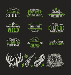 Set of typographic compositions for t shirt vector