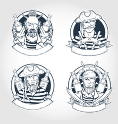 set pirate vector image