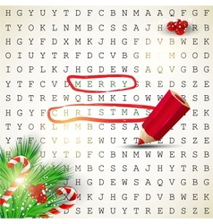Solution of puzzletext merry christmas vector