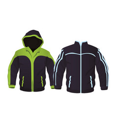 sport fitness jackets vector image