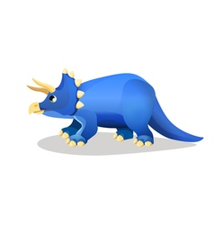 Styracosaurus spiked lizard isolated on white vector image