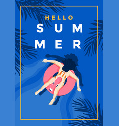 summer background flat design summer time 5 vector image