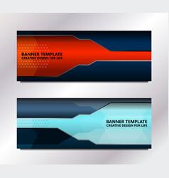 tech banner template vector image