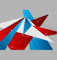 technology low poly shapes abstract connection vector image