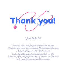 Thank you doctors and nurses card vector
