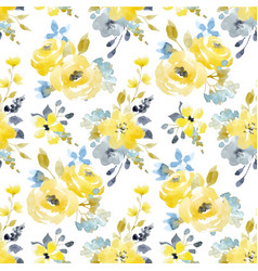watercolor floral seamless pattern vector image