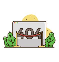 Web page error 404 vector