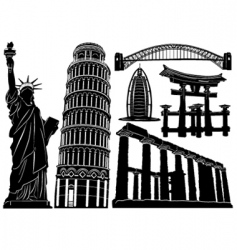 architecture and historical buildings vector image